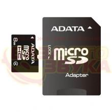 Флеш память ADATA microSDHC 8GB Class 4 with adapter