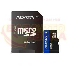 Флеш память A-Data microSDHC 32GB UHS-I Class 10 with adapter