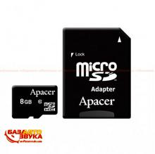 Флеш память Apacer microSDHC 8GB UHS-I Class 10 with adapter
