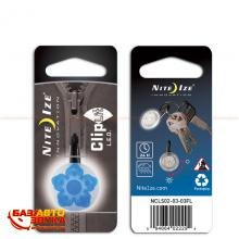 Брелок для авто Nite Ize ClipLit Blue Wild Flower/White LED