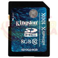 Флеш память Kingston SDHC 8Gb Class10