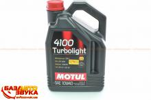 Моторное масло MOTUL 4100 Turbolight SAE 10W40 387607 4л