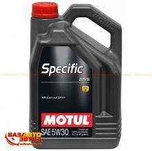 Моторное масло MOTUL SPECIFIC MB 229.52 SAE 5W30 843651 5л