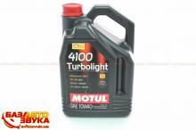 Моторное масло MOTUL 4100 Turbolight 10W-40 5л (387606)