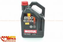 Моторное масло MOTUL 8100 Eco-lite NEW 0W-20 4л (841154)