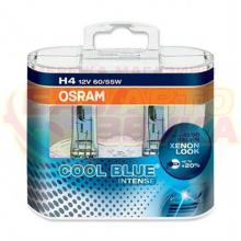Галогенная лампа Osram H4 COOL BLUE Intense 12V 64193CBI-HCB DUO (2шт.)