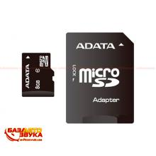 Флеш память ADATA microSDHC 8GB UHS-I Class 10 with adapter
