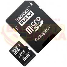 Флеш память Goodram 32GB MicroSDHC UHS-1 Class10 + SD adapter