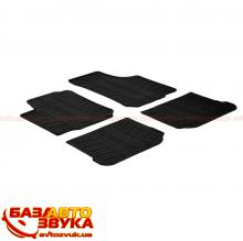 Резиновые коврики в салон GledRing VOLKSWAGEN Golf IV 1998->/5 doors (T) 4 pcs+fixing GR 0059