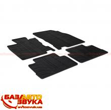 Резиновые коврики в салон GledRing NISSAN Qashqai 2014-> (not for 4x4, manual) (T) 4 pcs+fixing GR 0296