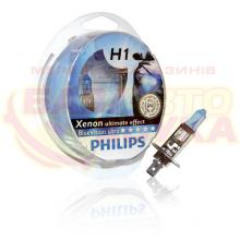 Галогенная лампа Philips H1 BlueVision ultra 12V 12258BVUSM (2шт.)