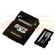 Флеш память Kingmax micro-SDHC 16GB CLASS10+adapter