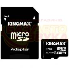 Флеш память Kingmax micro-SDHC 32GB CLASS10+adapter