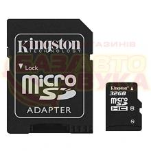 Флеш память Kingston microSDHC 32Gb Class10 with adapter