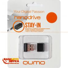 Флеш память Qumo 8GB USB 2.0 Nano Black