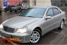 Дефлекторы окон HIC Mercedes C-klasse W-203 2000-2007 Sedan