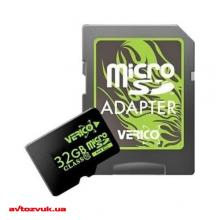 Флеш память Verico MicroSDHC 32GB Class 10 + SD adapter VFE3-32G-V1E