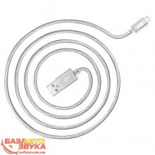 iPhone/iPod/iPad адаптер JUST Copper Lightning USB Cable 1,2M Silver LGTNG-CPR12-SLVR