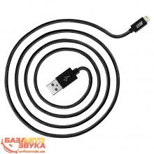 iPhone/iPod/iPad адаптер JUST Copper Lightning USB Cable 2M Black LGTNG-CPR20-BLCK