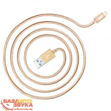 iPhone/iPod/iPad адаптер JUST Copper Lightning USB Cable 2M Gold LGTNG-CPR20-GLD