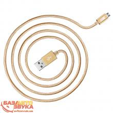 Интерфейс JUST Copper Micro USB Cable 1,2M Gold MCR-CPR12-GLD