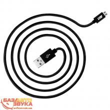 Интерфейс JUST Copper Micro USB Cable 1,2M Black MCR-CPR12-BLCK