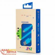 MicroUSB адаптер JUST Freedom Micro USB Cable Blue MCR-FRDM-BL, Фото 2