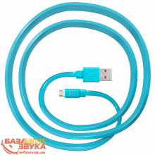 MicroUSB адаптер JUST Freedom Micro USB Cable Blue MCR-FRDM-BL
