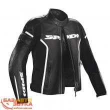 Мотокуртка Spidi P100 GP LEATHER WIND JACKET размер 46  black/white