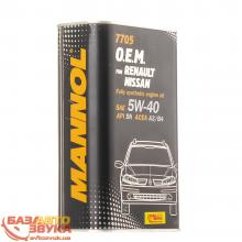 Моторное масло MANNOL 7705 O.E.M. for Renault Nissan 5W-40 1л, Фото 3