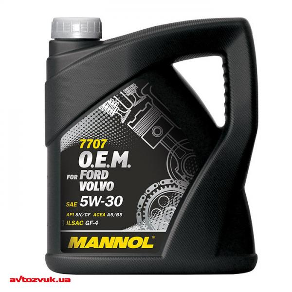 Моторное масло MANNOL 7707 O.E.M. for Ford Volvo 5W-30 4л: отзывы, характеристики и фото