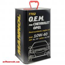 Моторное масло MANNOL 7702 O.E.M. for Chevrolet Opel 10W-40 4л