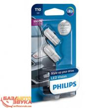 LED лампа Philips Vision T10 5500K 12V 127916000KB2 (2шт.)