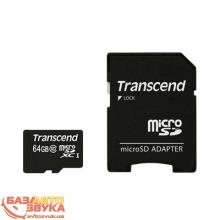 Флеш память Transcend microSDXC 64Gb Class 10 with adapter