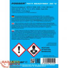 Антифриз FOSSER antifreeze fa g11 ready mix -30 1л, Фото 3