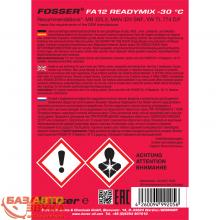 Антифриз FOSSER antifreeze fa g12 ready mix -30 1л, Фото 2