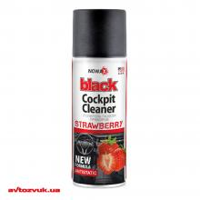 Полироль пластика NOWAX Black Cockpit Cleaner клубника NX00454 450мл