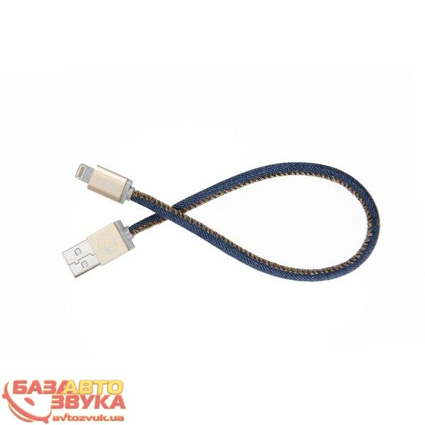 iPhone/iPod/iPad адаптер PlusUs Lightning to USB Cable LifeStar Denim Blues 25 cm (LST2002025): отзывы, характеристики и фото