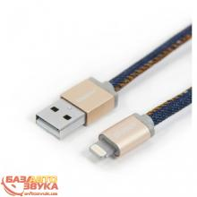 iPhone/iPod/iPad адаптер PlusUs Lightning to USB Cable LifeStar Denim Blues 25 cm (LST2002025), Фото 2