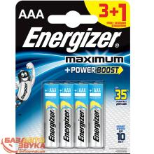 Батарейки ENERGIZER Maximum LR03/E92 AAA FSB4