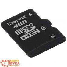 Флеш память Kingston microSD 4Gb Class4