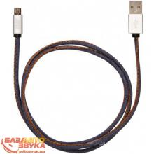 MicroUSB адаптер JUST Unique Micro USB Cable Jeans (MCR-UNQ-JEAN), Фото 3