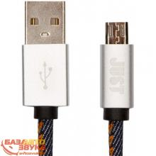 MicroUSB адаптер JUST Unique Micro USB Cable Jeans (MCR-UNQ-JEAN)