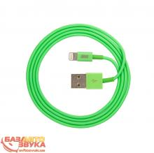 iPhone/iPod/iPad адаптер JUST Simple Lighting USB Cable Green 1M LGTNG-SMP10-GRN