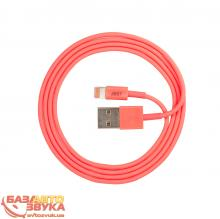 iPhone/iPod/iPad адаптер JUST Simple Lighting USB Cable Pink 1M LGTNG-SMP10-PNK