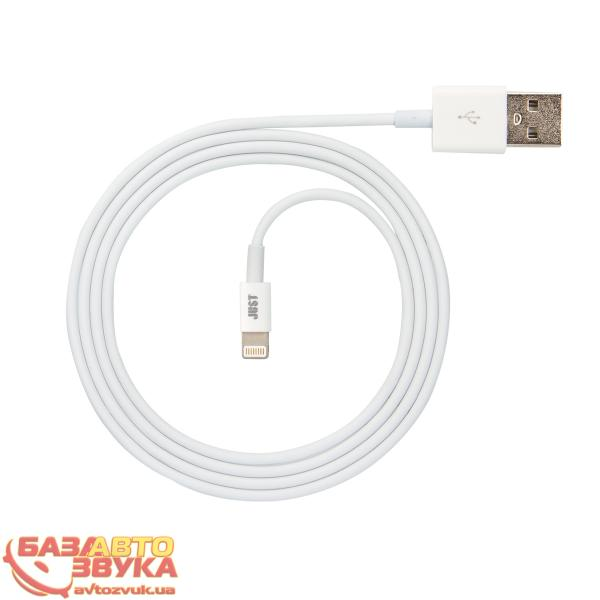 iPhone/iPod/iPad адаптер JUST Simple Lighting USB Cable White 1M LGTNG-SMP10-WHT: отзывы, характеристики и фото
