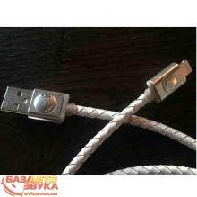 iPhone/iPod/iPad адаптер PlusUs Lifestar Premium Cross White Lightning to USB Cable 1m (LST2112100)
