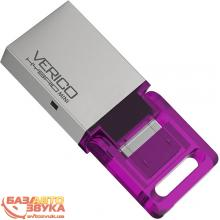 Флеш память Verico USB 16Gb Hybrid Mini Pink VP57-16GPV1G