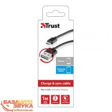 Адаптер Trust REVERSIBLE USB CHARGE & SYNC CABLE 1M (20367), Фото 3