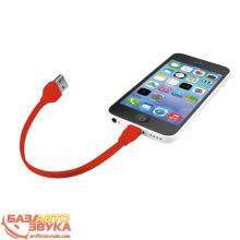 Адаптер Trust URBAN FLAT LIGHTNING CABLE 20cm Red (20133), Фото 5